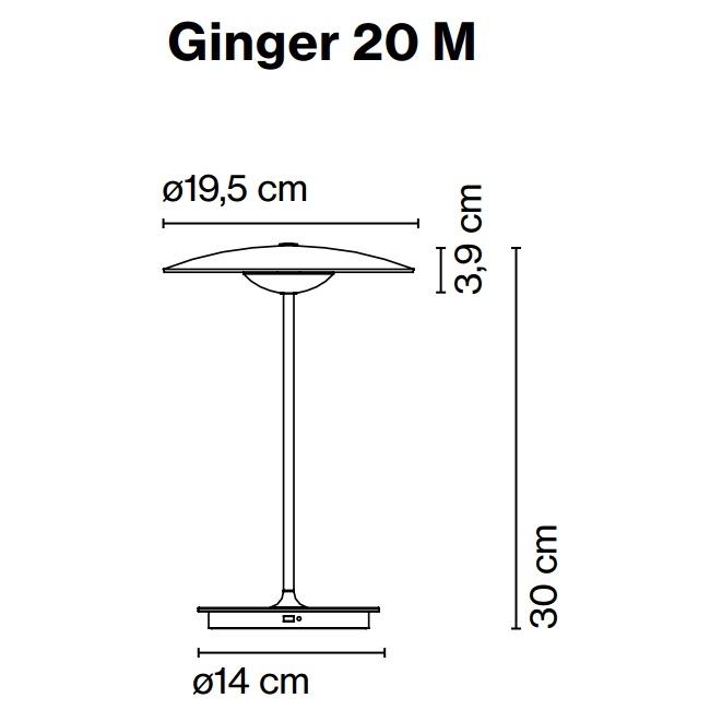 Ginger uppladdningsbar bordslampa