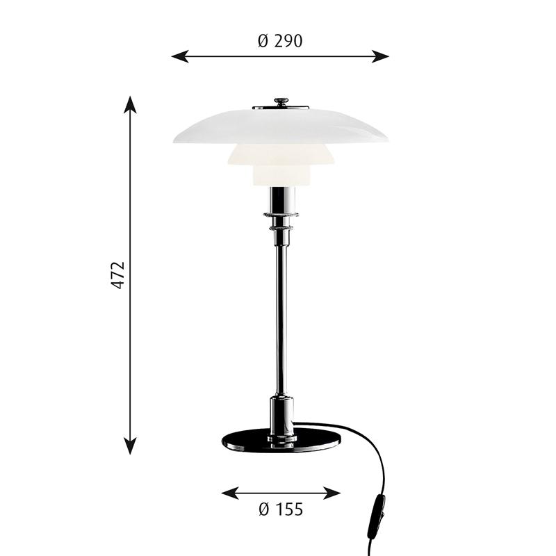 PH 3/2 Bordslampa